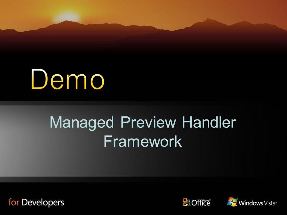 Managed Preview Handler Framework