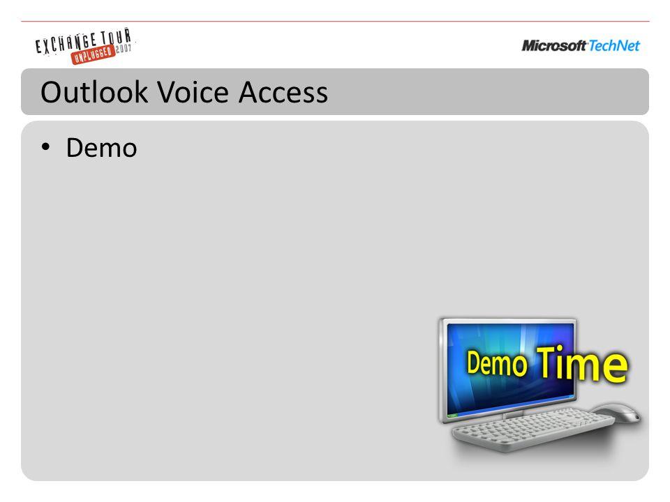 Outlook Voice Access Demo