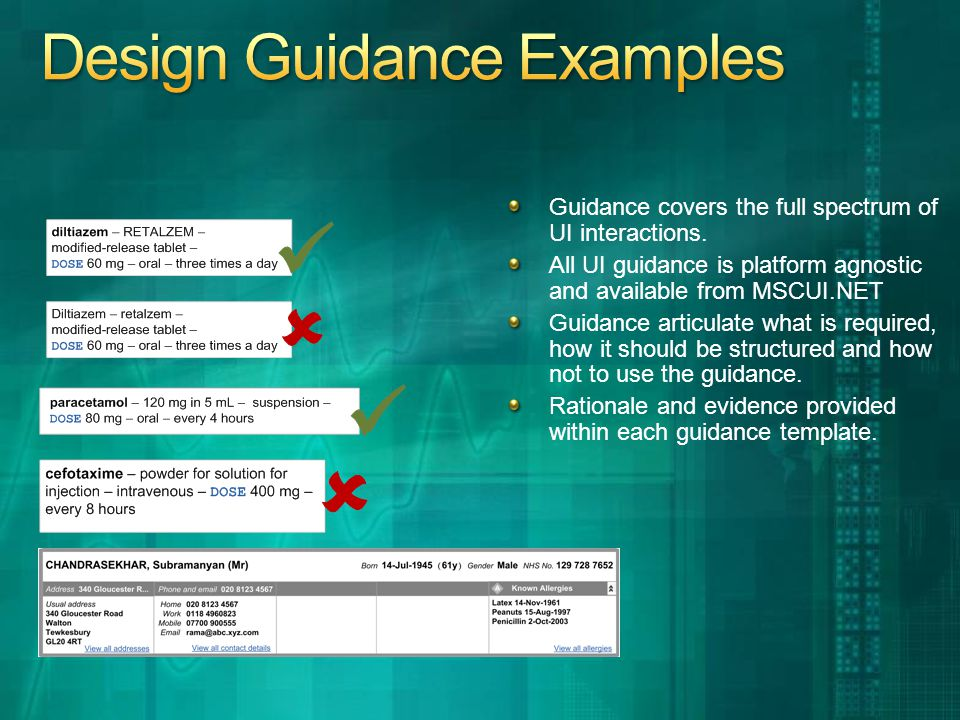 Guidance covers the full spectrum of UI interactions.