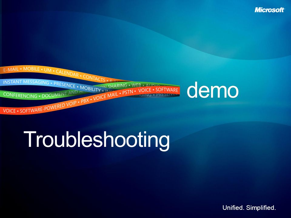 Unified. Simplified. Troubleshooting