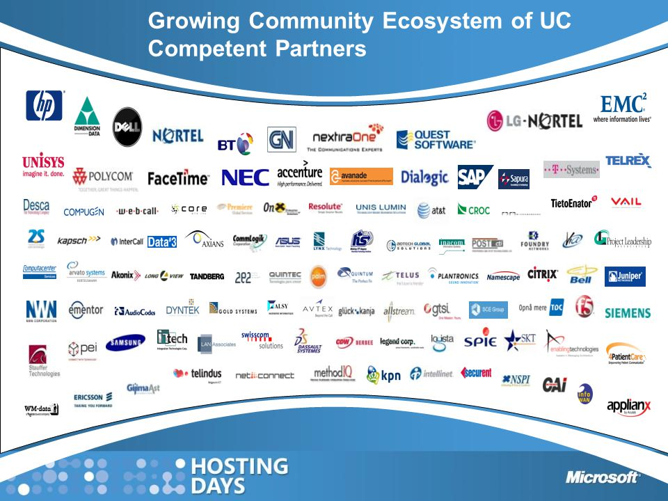 Growing Community Ecosystem of UC Competent Partners
