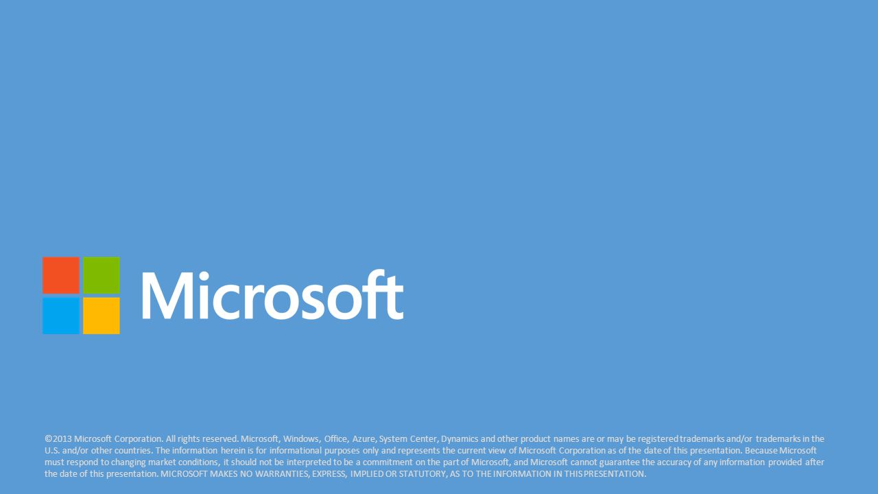 ©2013 Microsoft Corporation. All rights reserved.