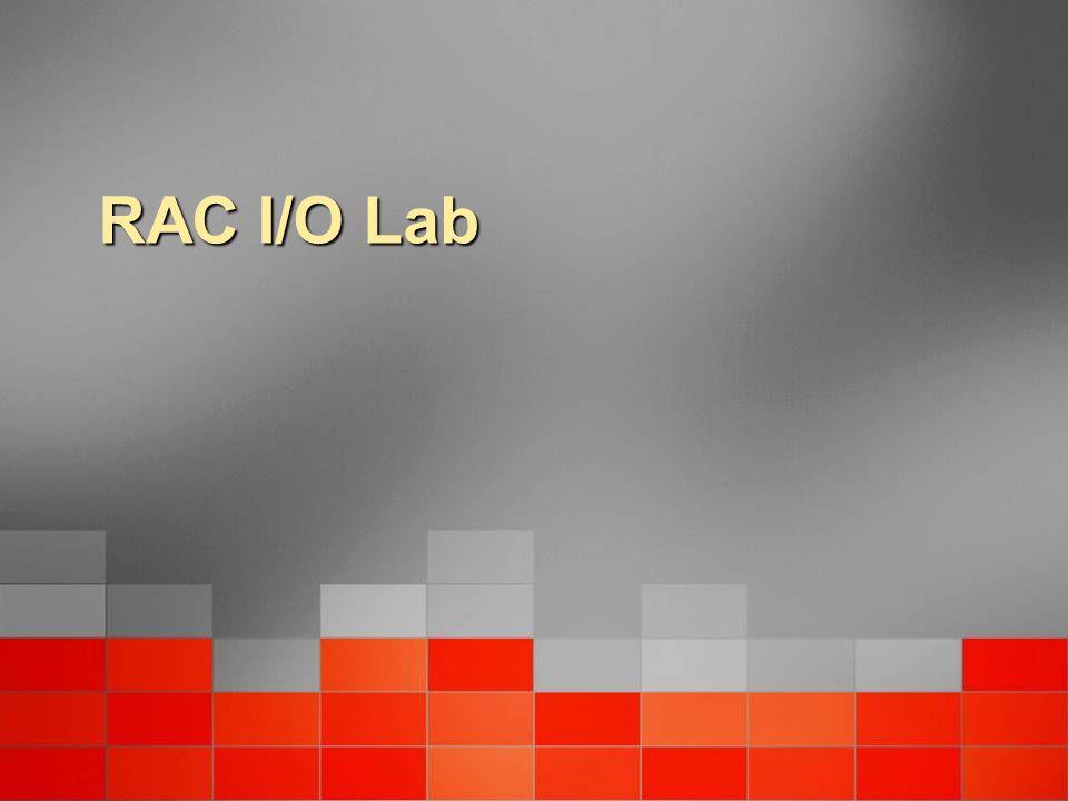 RAC I/O Lab