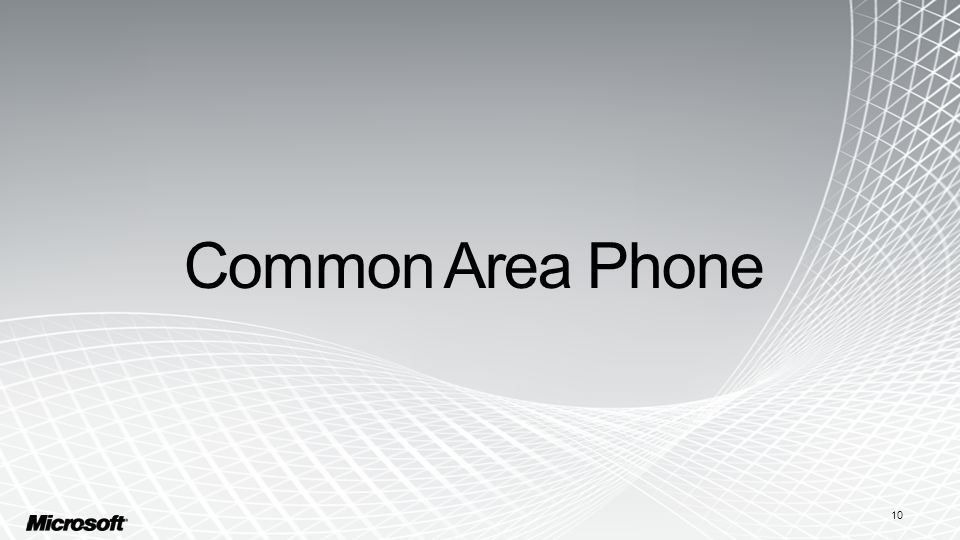 Common Area Phone 10