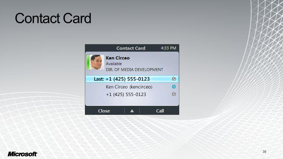 Contact Card 39