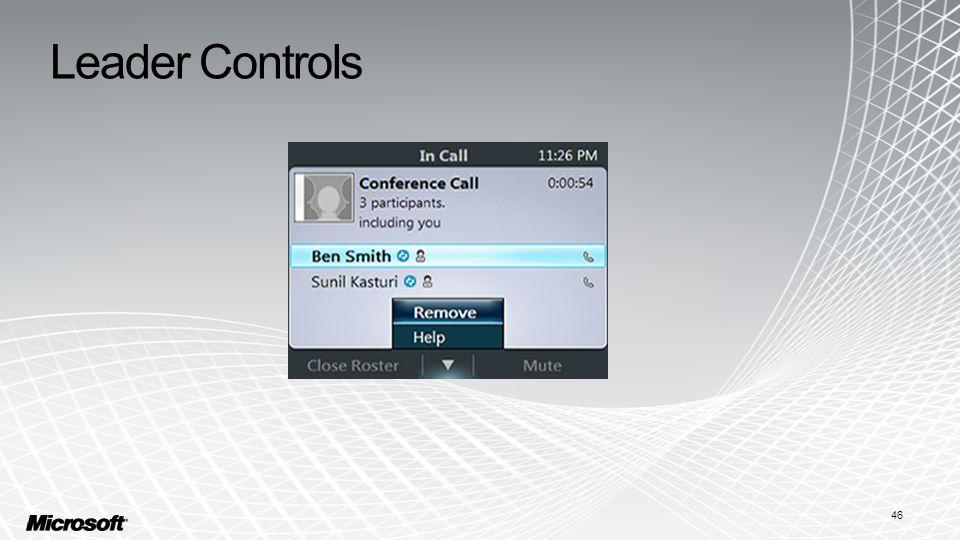 Leader Controls 46