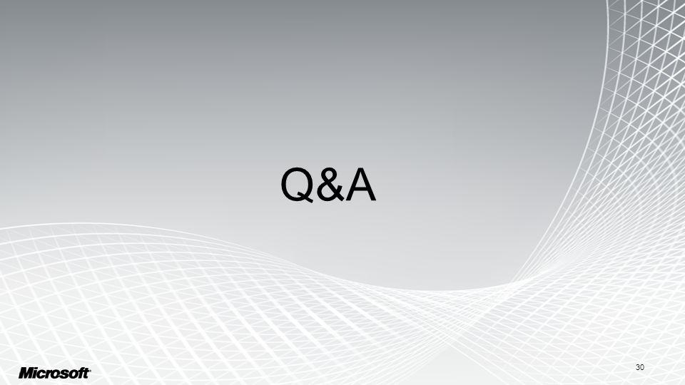 30 Q&A