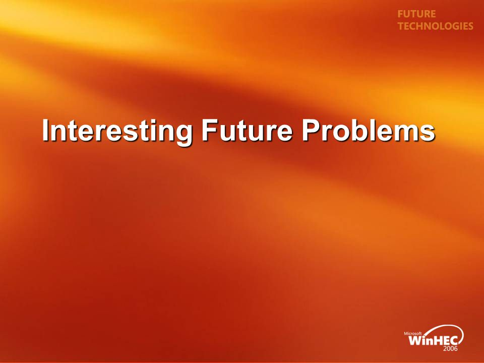 Interesting Future Problems
