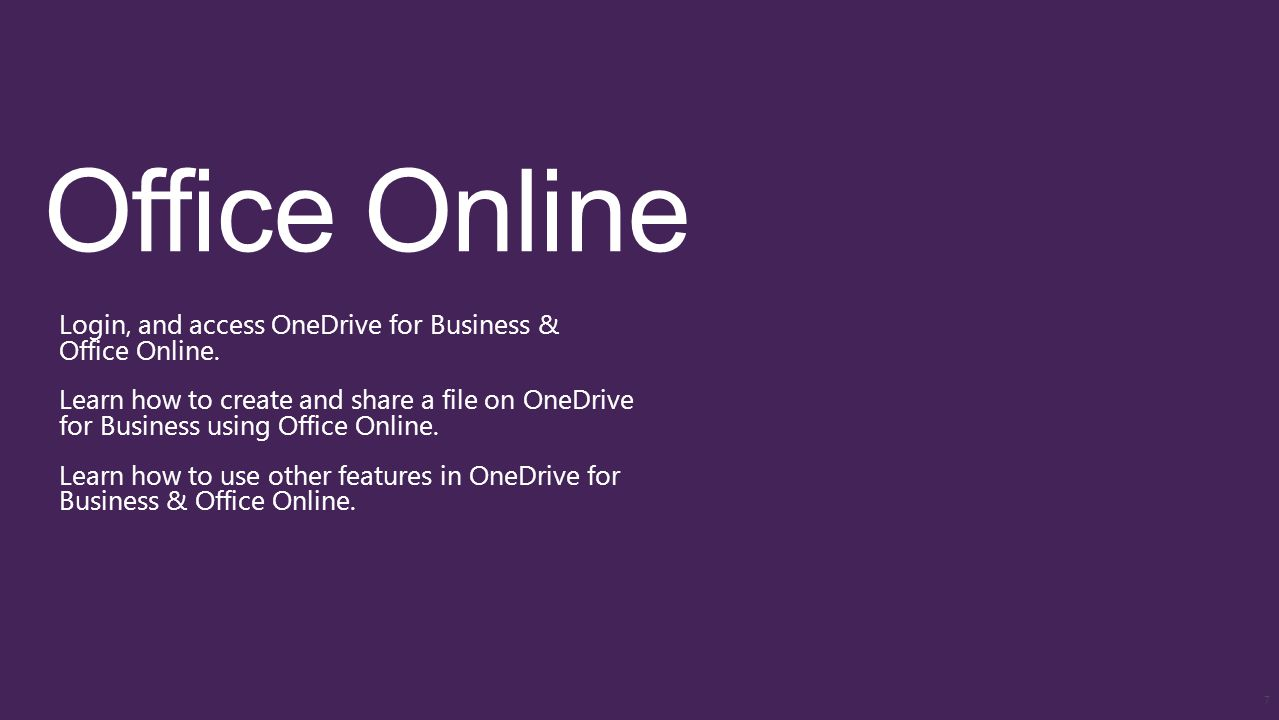 Login, and access OneDrive for Business & Office Online.