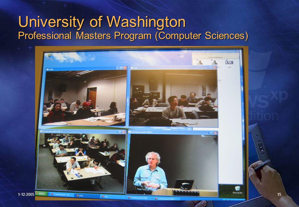 1-12-200515 University of Washington Professional Masters Program (Computer Sciences)
