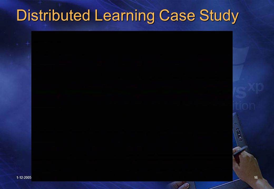 1-12-200516 Distributed Learning Case Study