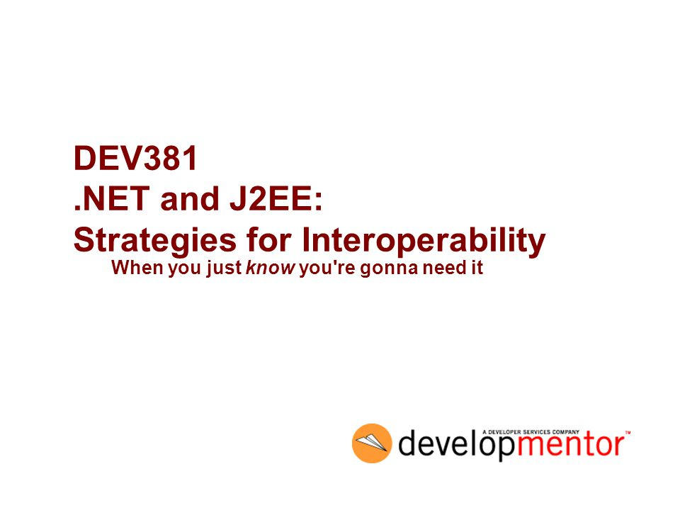 32 Myths in detail #8: The network is homogeneous –you re in this class because you realize this already –again, most of the time, interop means J2EE/.NET –do you know that anything else will be used.