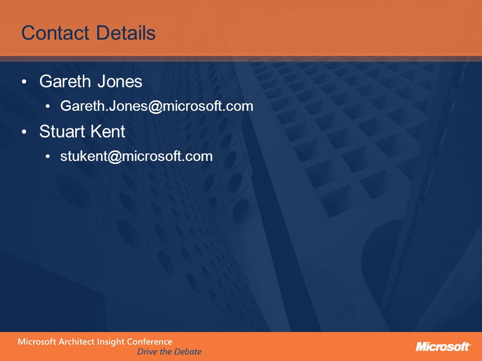 Contact Details Gareth Jones Stuart Kent
