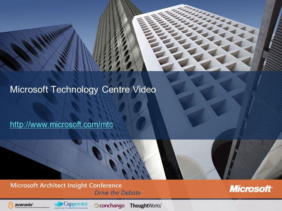 Microsoft Technology Centre Video http://www.microsoft.com/mtc