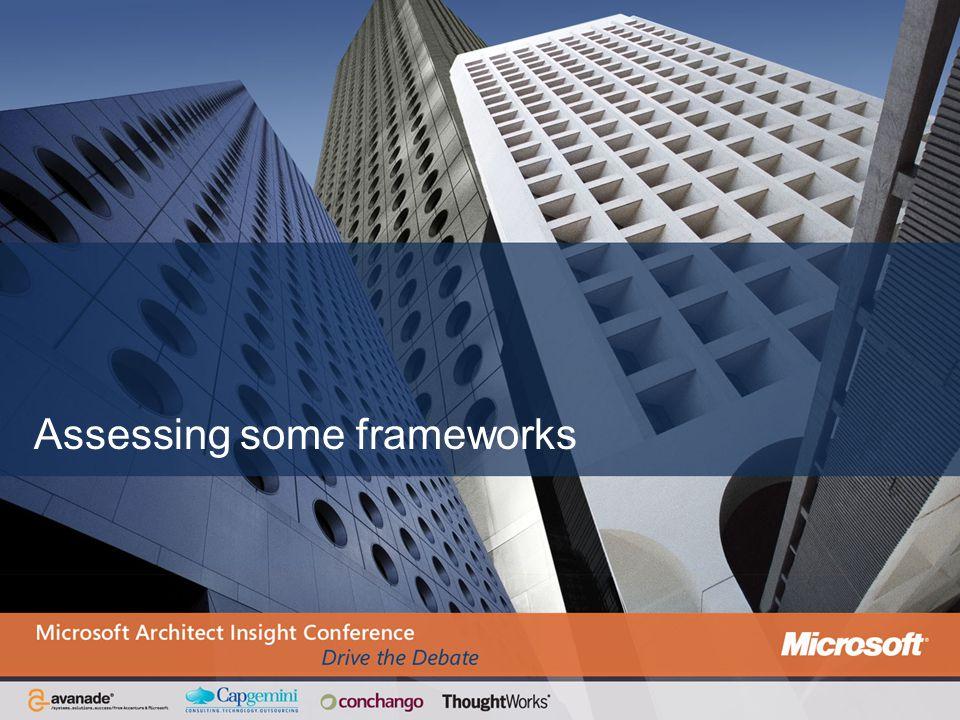 Assessing some frameworks