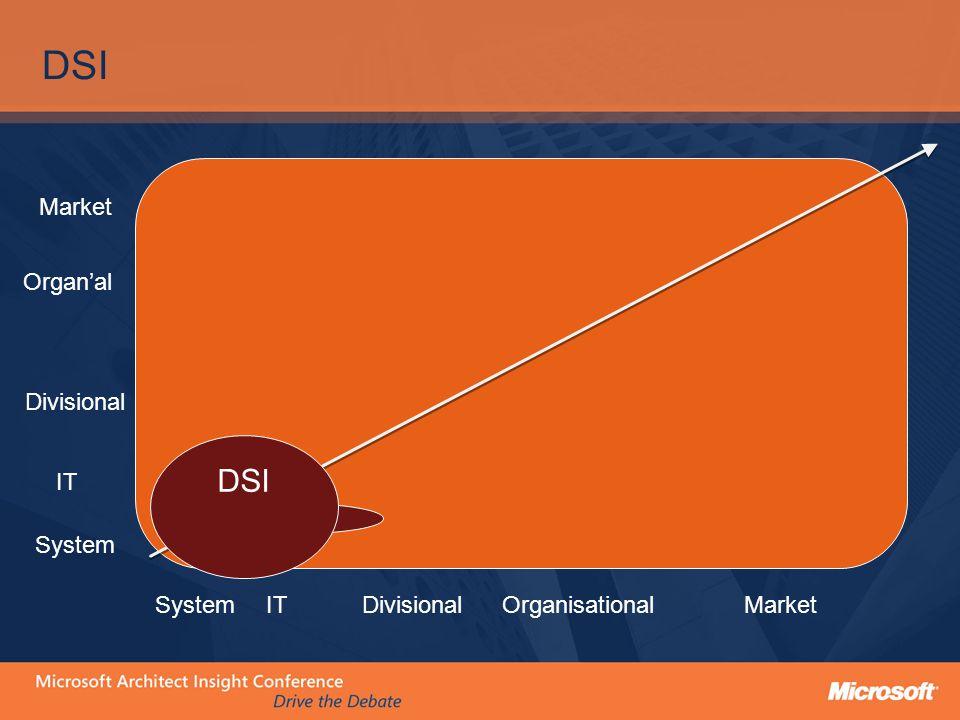 DSI ITDivisionalOrganisationalSystemMarket System IT Divisional Organ'al Market DSI