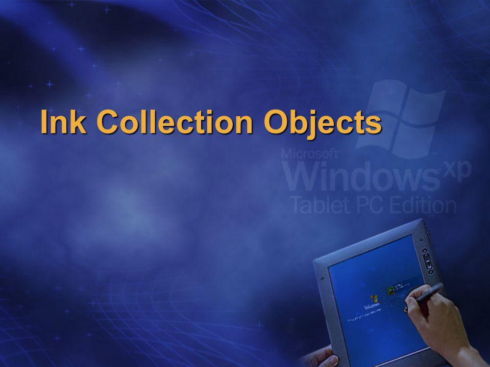 Ink Collection Objects