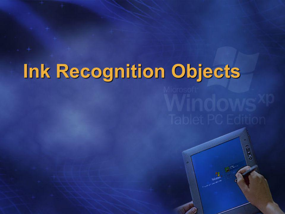 Ink Recognition Objects
