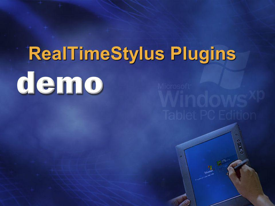 RealTimeStylus Plugins