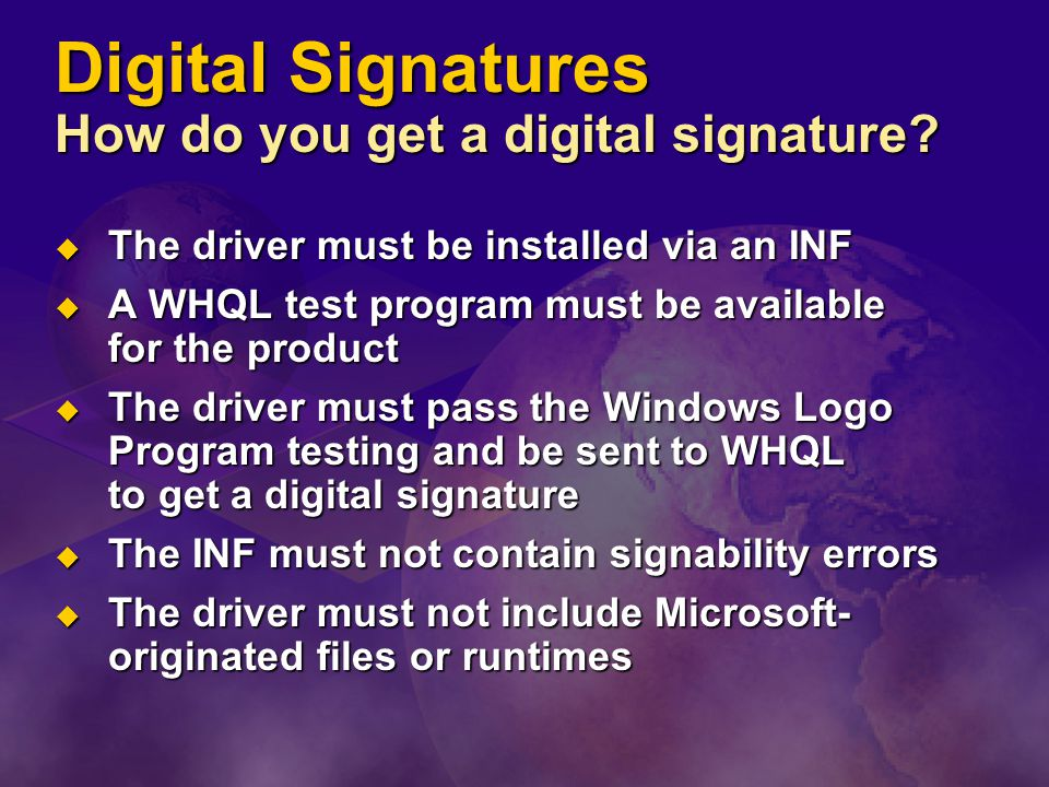 Digital Signatures How do you get a digital signature.