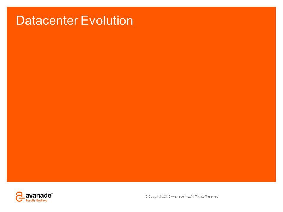 © Copyright 2010 Avanade Inc. All Rights Reserved. Datacenter Evolution