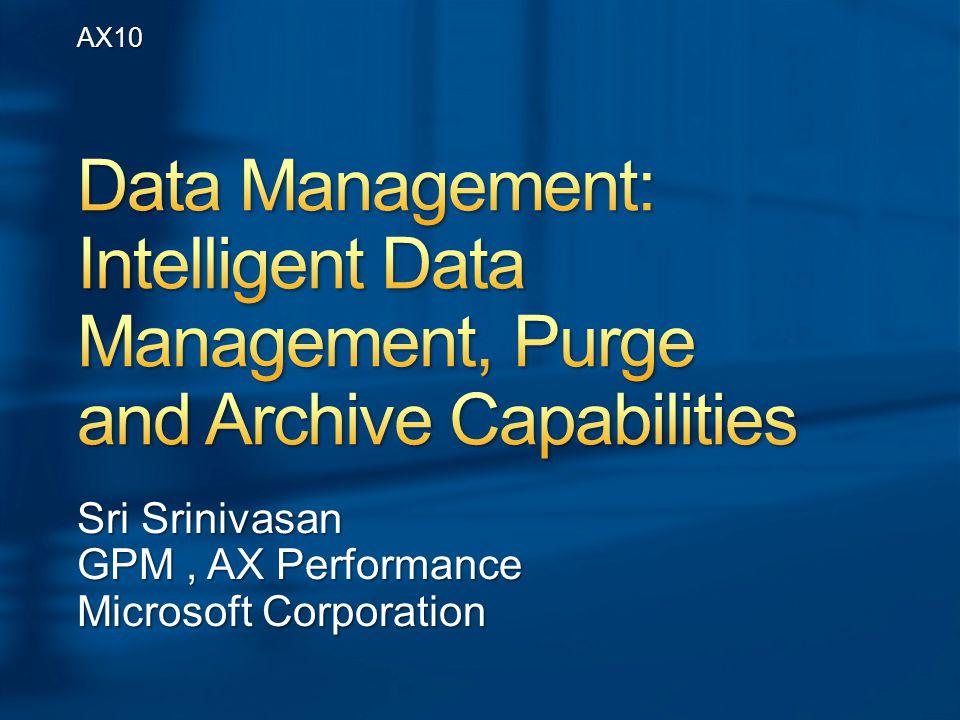 Sri Srinivasan GPM, AX Performance Microsoft Corporation AX10