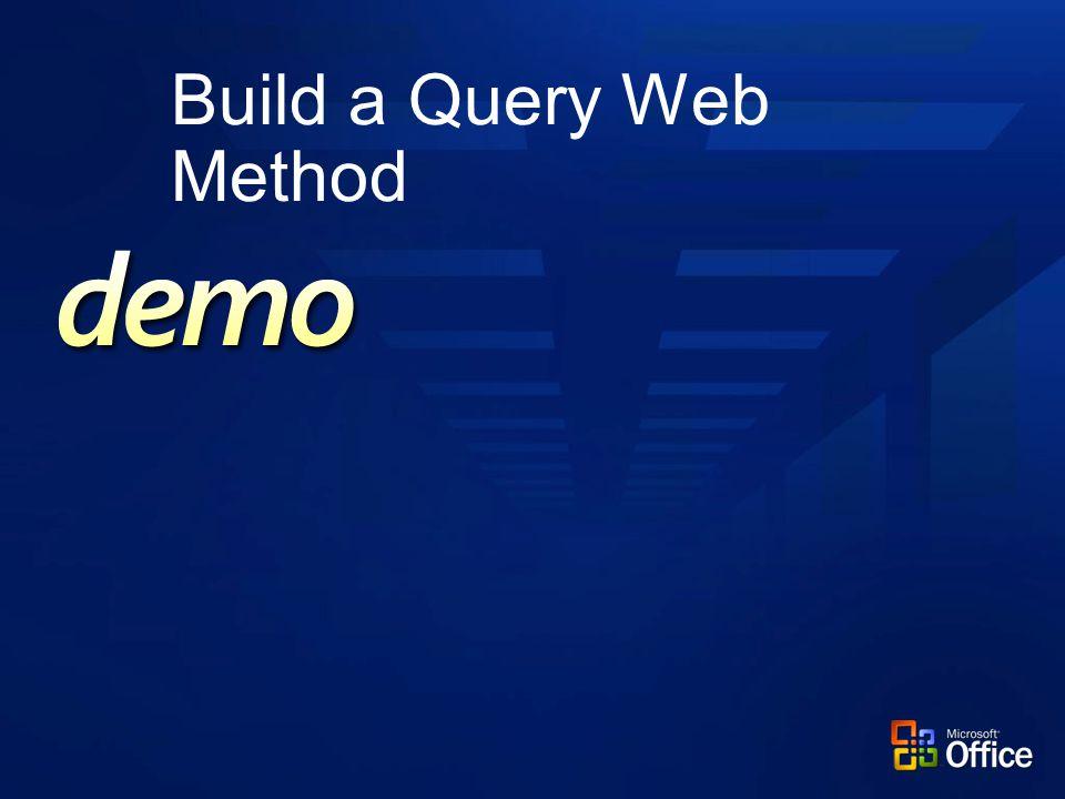 Build a Query Web Method