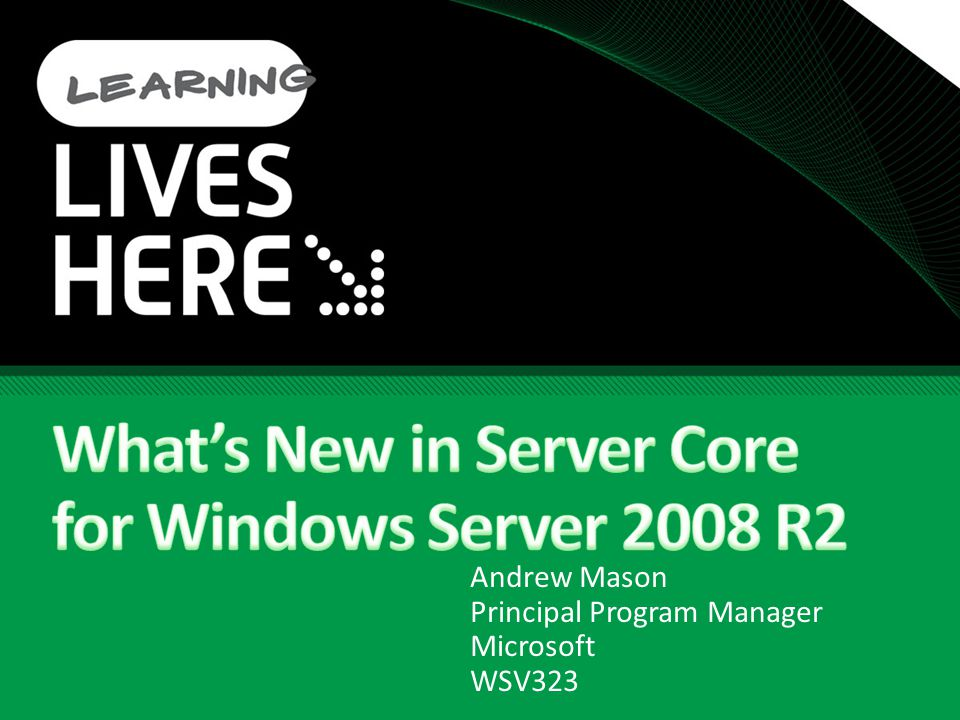 PowerShell in Server Core Full Command Line PowerShell Scripts and cmdlets are limited like any other code or script Installing PowerShell Dism /online /enable-feature /featurename:MicrosoftWindowsPowerShell If 32-bit support is needed: Dism /online /enable-feature /featurename: NetFx2-ServerCore-WOW64 Dism /online /enable-feature /featurename:MicrosoftWindowsPowerShell-WOW64