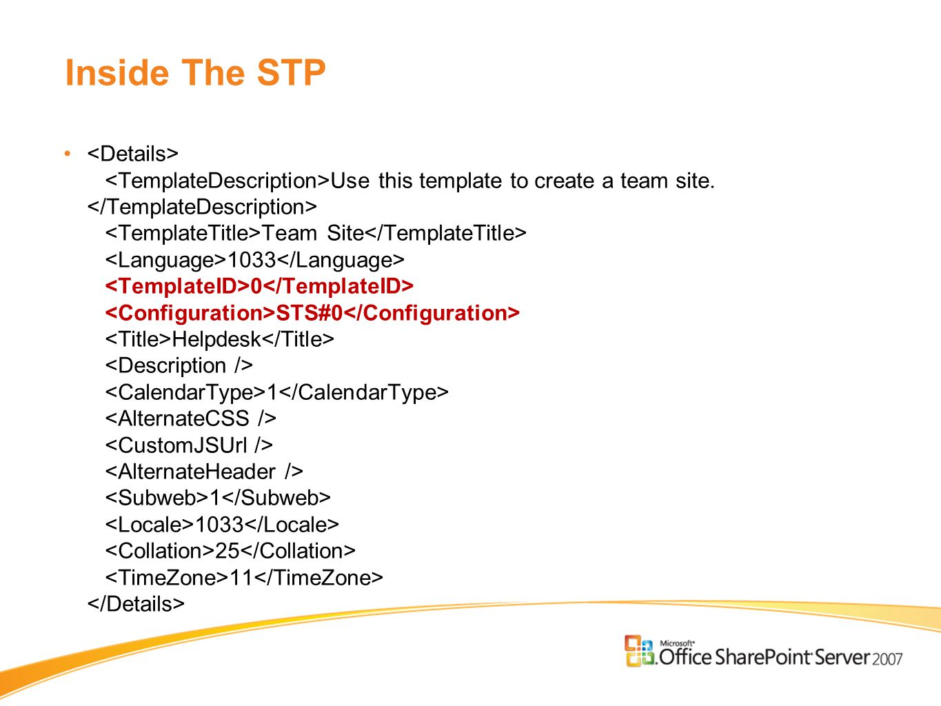 Inside The STP Use this template to create a team site.