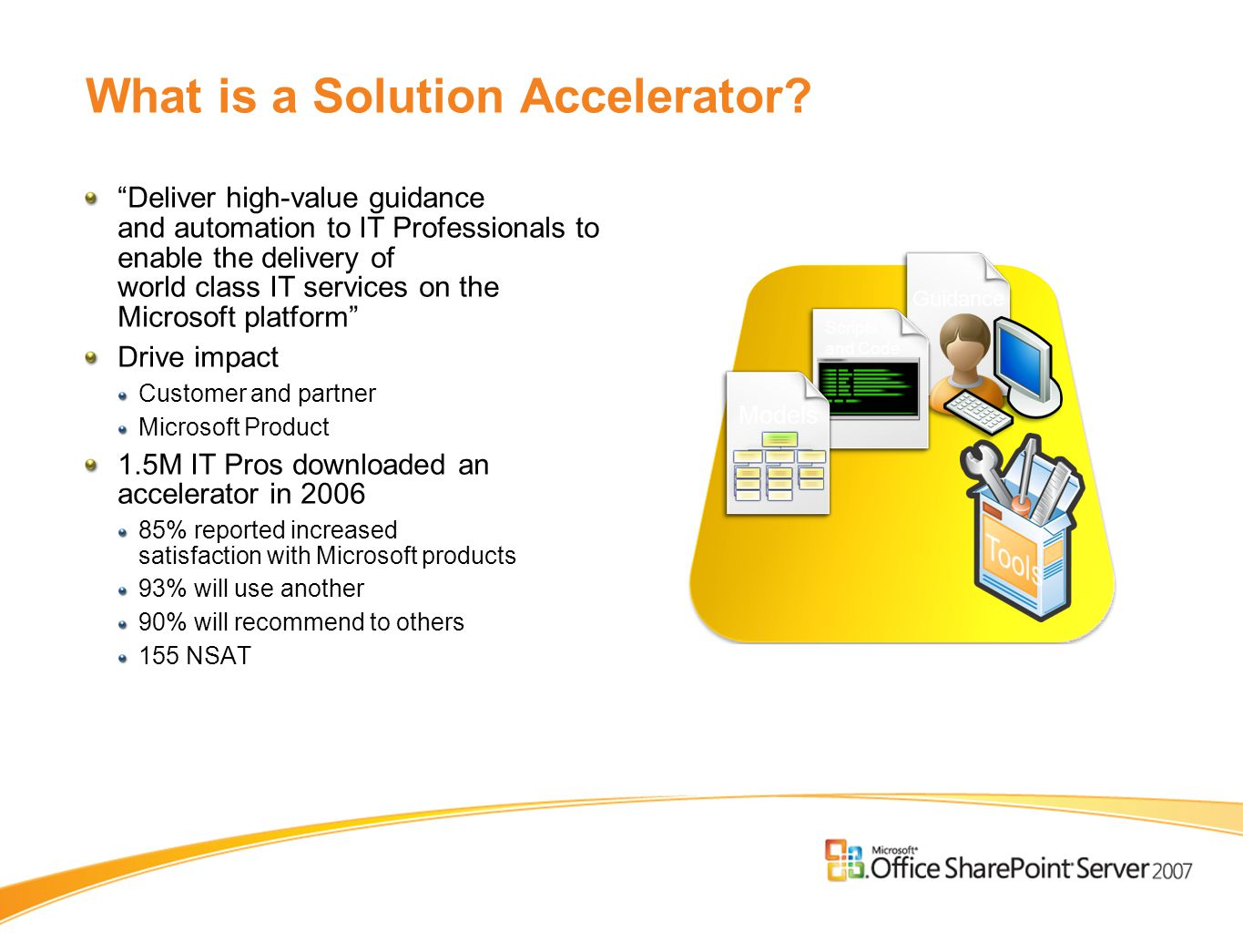 What is a Solution Accelerator.
