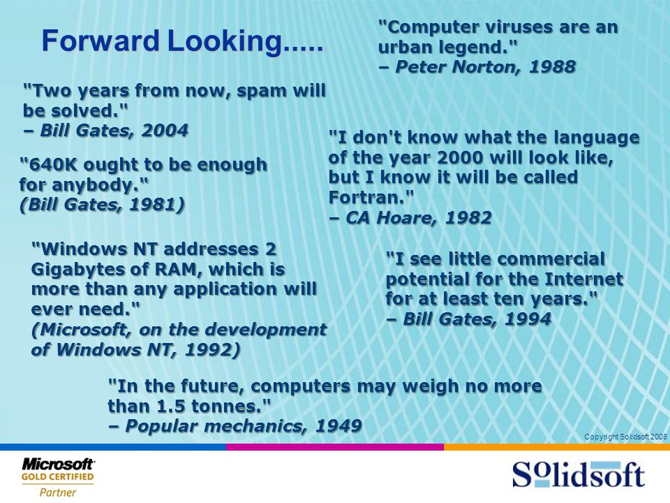Copyright Solidsoft 2008 Cost Of adding New Systems 12 Number of Systems 10100 1000 Cost Value 1 1 Integration Cost Unrealized innovation Cost Value © Jean-Jaques Dubray