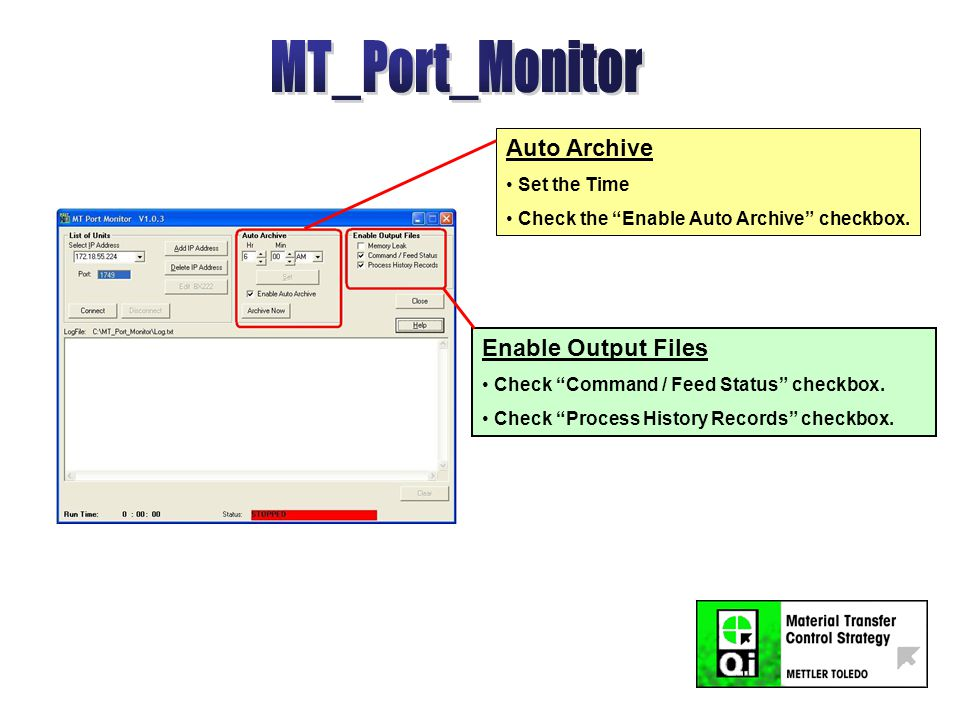 MT_Port_Monitor can NOT run on the same PC at the same time as MT_Datamonitor and Q.i365.