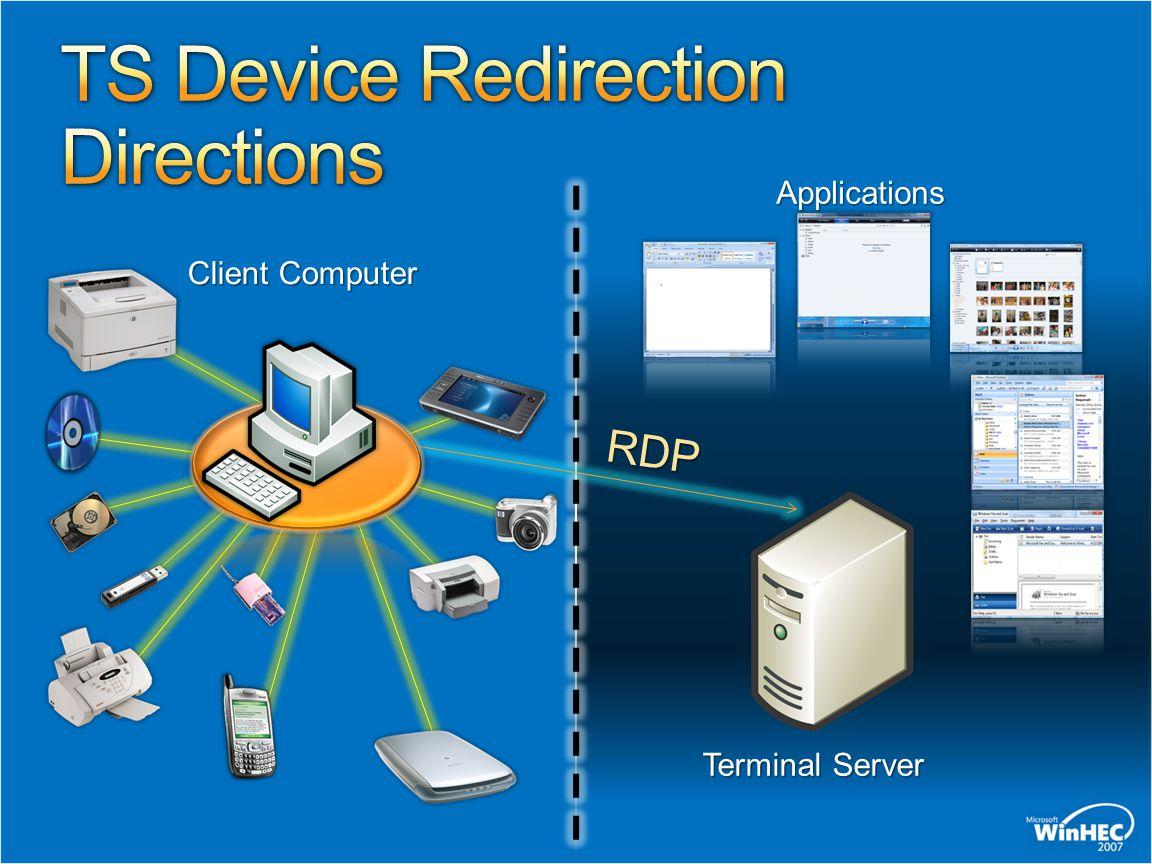 Client Computer Terminal Server RDP Applications