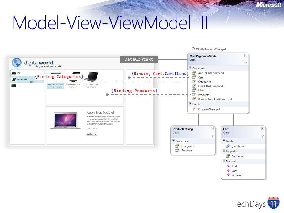 Model-View-ViewModel II