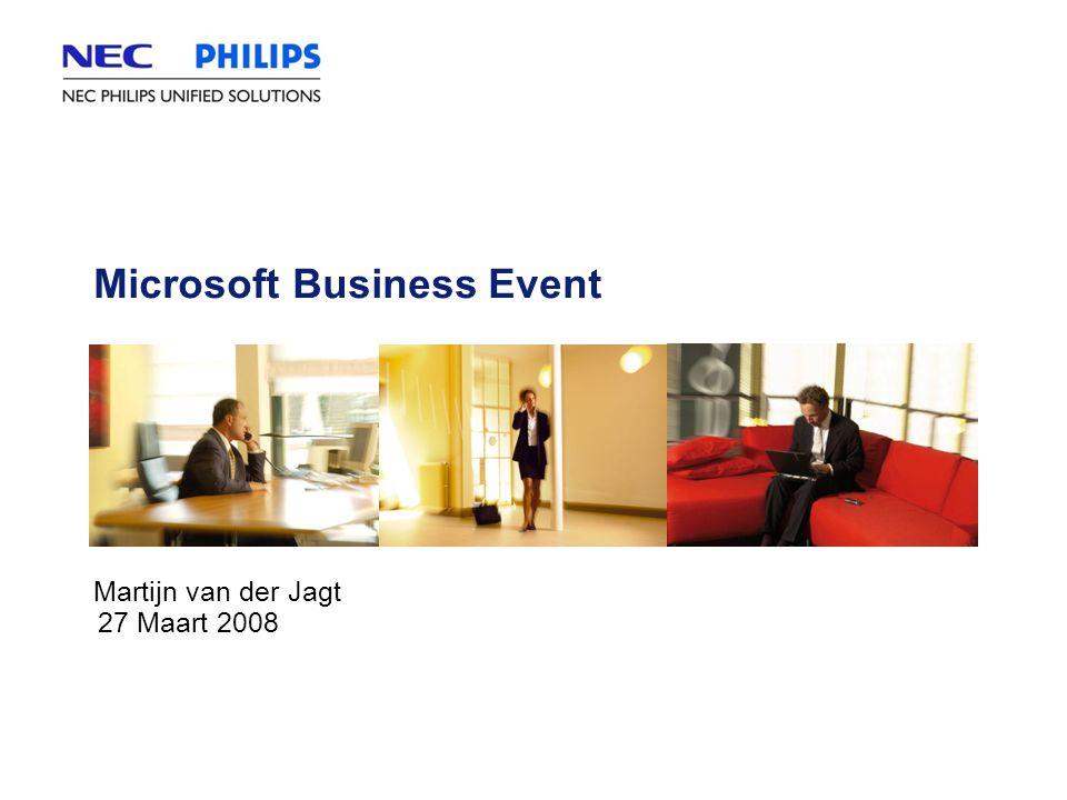 Microsoft Business Event Martijn van der Jagt 27 Maart 2008