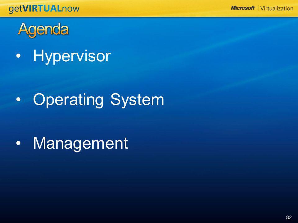 82 Hypervisor Operating System Management