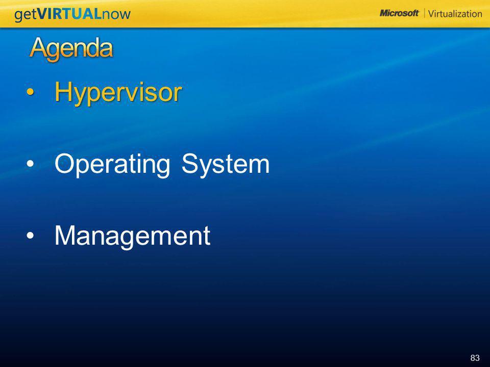 83 HypervisorHypervisor Operating System Management