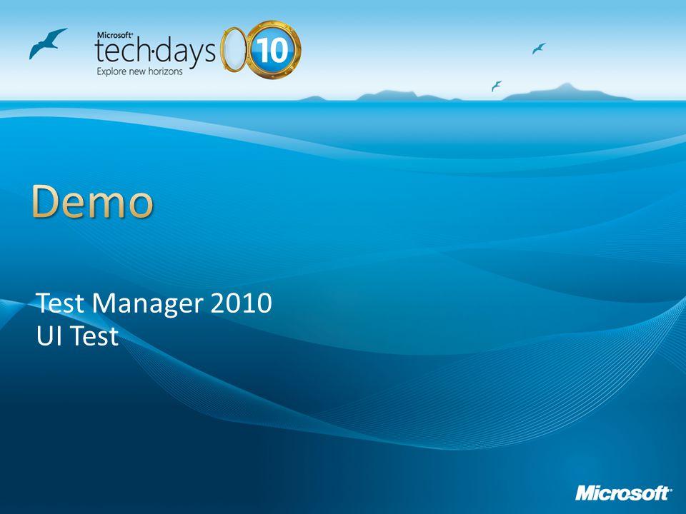 Test Manager 2010 UI Test