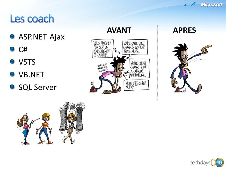 ASP.NET Ajax C# VSTS VB.NET SQL Server AVANTAPRES