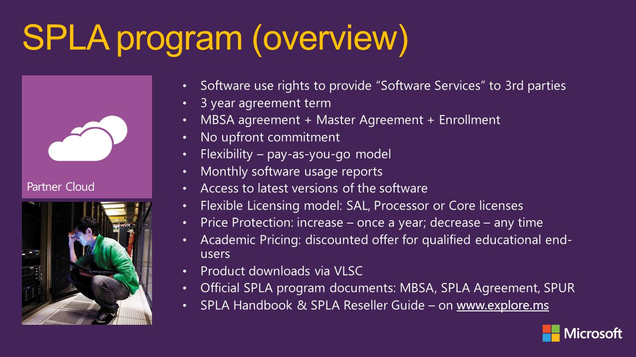 SPLA program (benefits)
