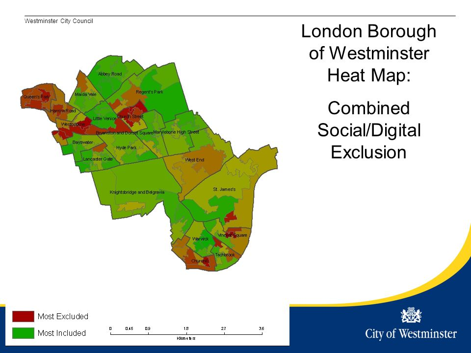 London Borough of Westminster Heat Map: Combined Social/Digital Exclusion