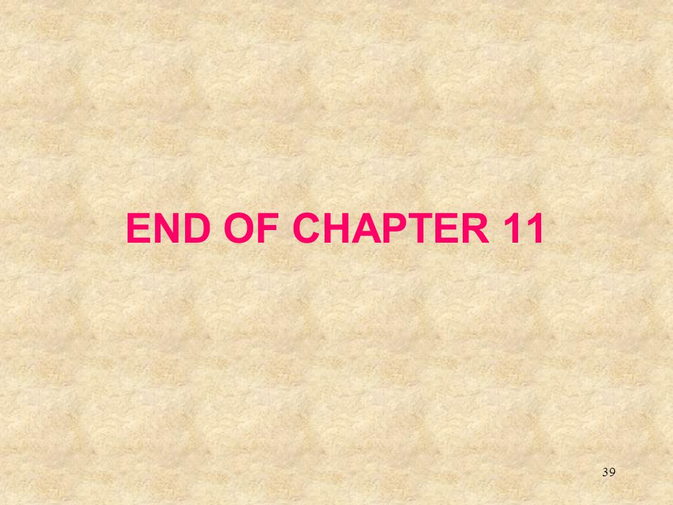 39 END OF CHAPTER 11