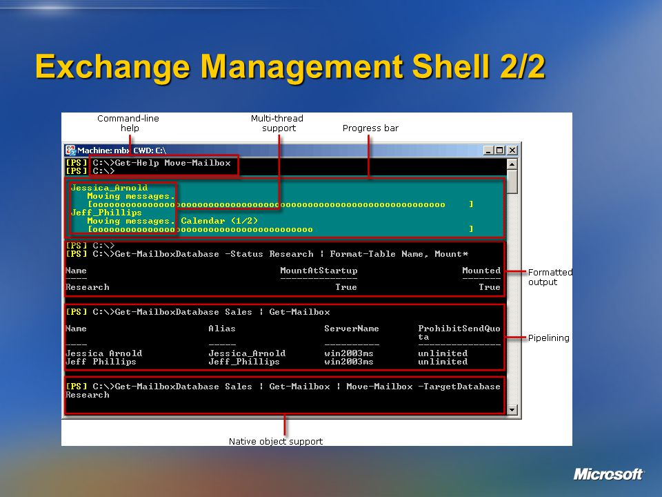 Exchange Management Shell 2/2