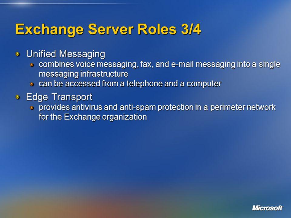 Exchange Server Roles 4/4 DMZ Intranet