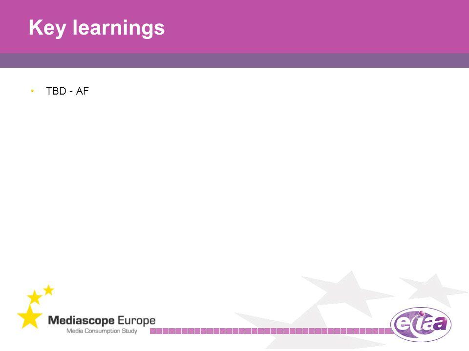 29 Key learnings TBD - AF