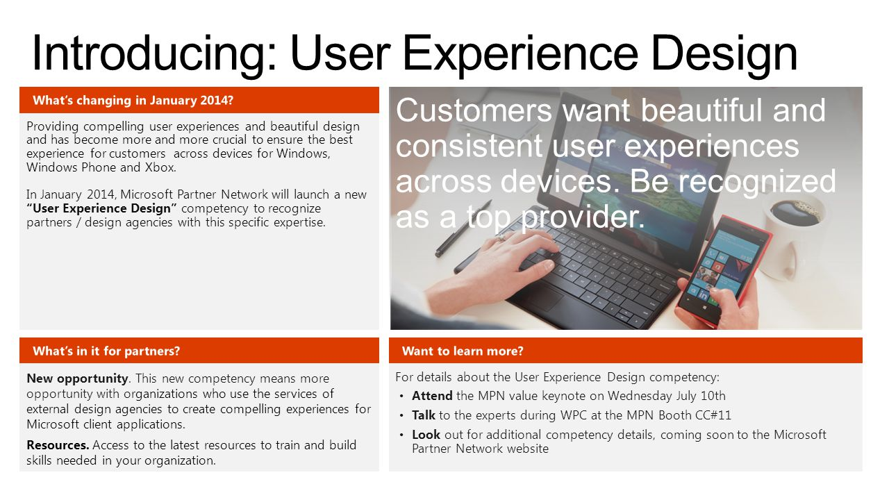 Providing compelling user experiences and beautiful design and has become more and more crucial to ensure the best experience for customers across devices for Windows, Windows Phone and Xbox.