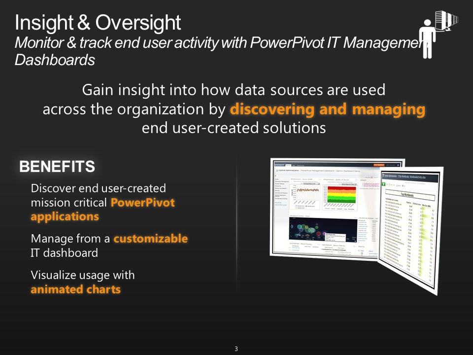 Insight & Oversight Monitor & track end user activity with PowerPivot IT Management Dashboards 3