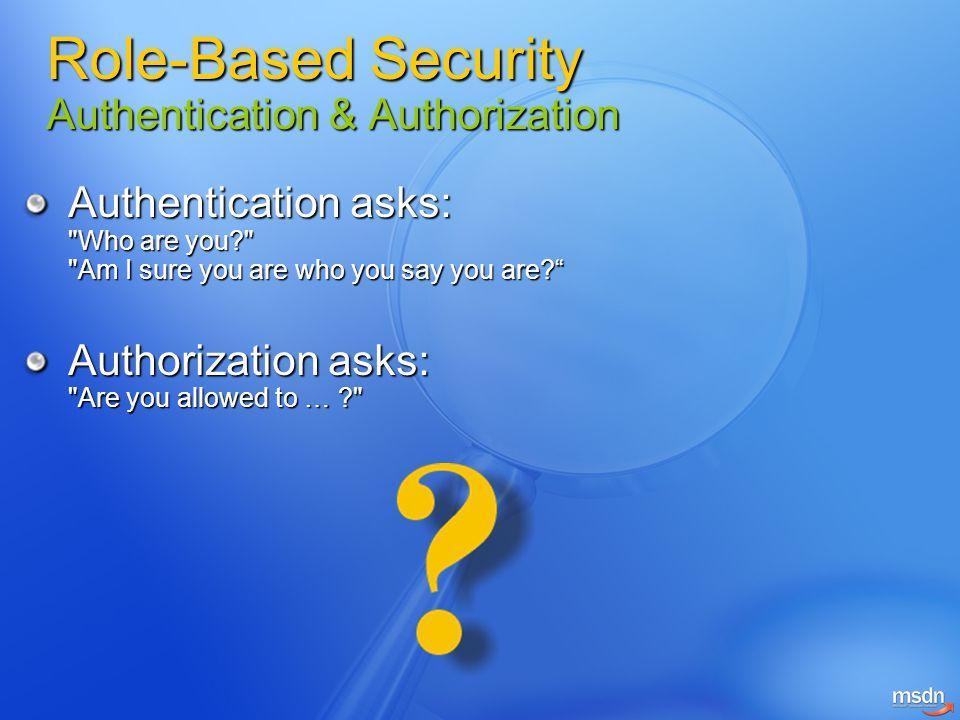 Authentication asks: