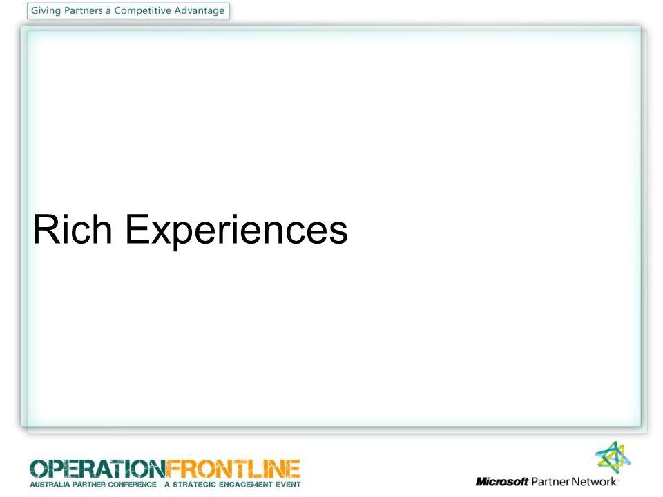 Rich Experiences