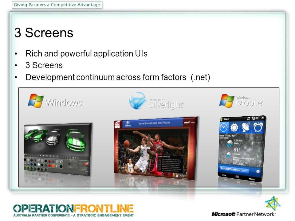 Windows 7 Improved experience Focus on fundamentals Application modernization Software Logo Program msdn.microsoft.com/swlogo